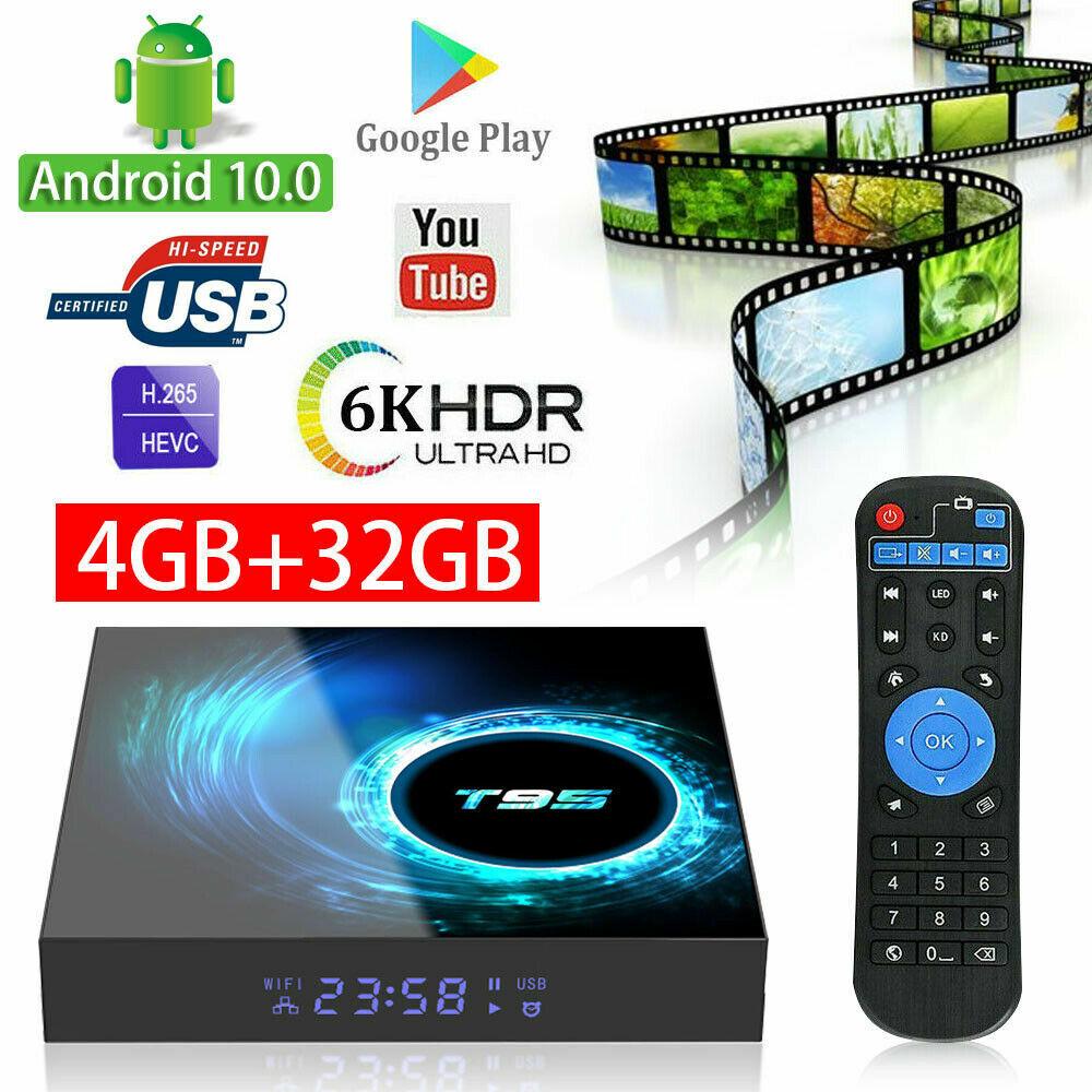 Android TV Box 10.0 4GB RAM 32GB 64GB Quad Core WiFi Smart M