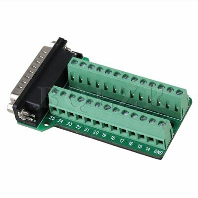 Db25-g2 D-sub Male Plug Adapter Screw Nut Terminal Block Converter Pcb Breakout