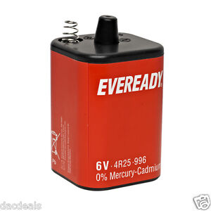PJ996 4R25R 6V  ENERGIZER Ever Ready Lantern Battery 996 1209  longest date av.