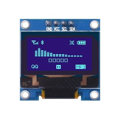 0.96 Inch 128x64 Blue Iic Oled Moudle I2c Lcd Display For Arduino Raspberry Pi