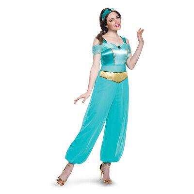 Disney Princess Dresses For Women (Womens Deluxe Jasmine Disney Princess)
