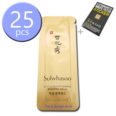 Sulwhasoo Concentrated Ginseng Renewing Serum 25ml (1ml x 25pcs) + 2 gift KOREA