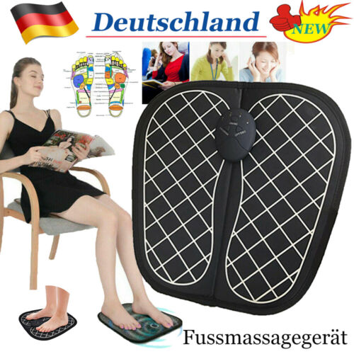 Fußmassage Impuls FußMassagegerät Elektrisch Shiatsu Massagematte Tragbar31x31cm