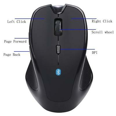 Bluetooth Maus Wireless 6D 1600DPI 2,4GHz Optische Gaming Mouse für PC