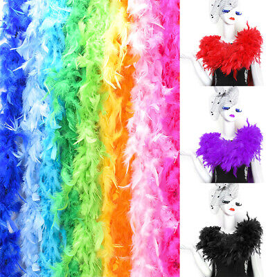 2Yard 6ft Chandelle Fluffy Feather Boa Strip Wedding Bachelorette Dressup Party  - Feathered Boa