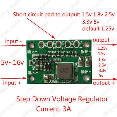 1.5v 1.8v 2.5v 3.3v 5v 3a Dc Buck Step Down Converter Regulator Voltage Module