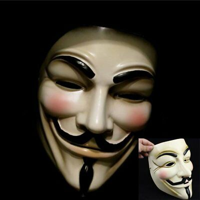 V for Vendetta Mask Anonymous Guy Fawkes Fancy Dress Fancy Costume Cosplay NEW](Fancy Dress For Guys)