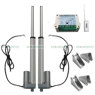 "2 Set 10"" 12V Linear Actuator Linearantrieb Linearmotor+Remote Control for Auto"