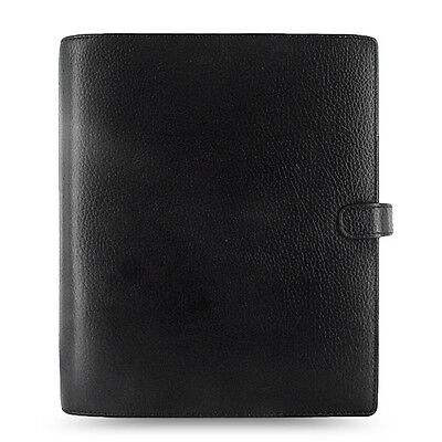 Filofax A5 Finsbury Organiser Planner Notebook Diary Black Leather -025368 Gift