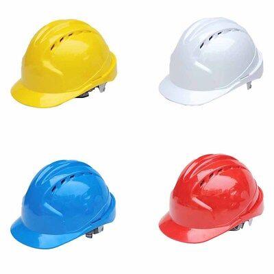 Hard Hat Full Brim Rib Top Protective Helmet Suspension Construction Safety Ansi