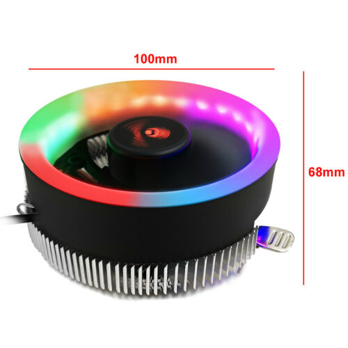 5 Color 3Pin LED CPU Cooler Fan Heatsink For Intel LGA1156 1