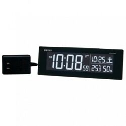 Seiko DL305K Digital Clock Radio Alarm AC Type Color LCD Series C3 Black Japan