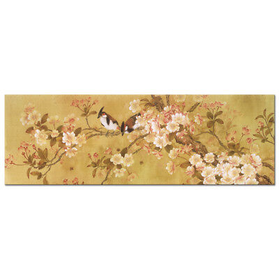 Canvas Print Picture Photo Paintings Wall Art Home Decor Birds Floral Tree Brown