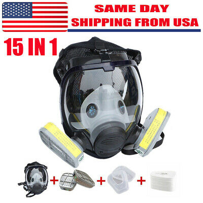 15 In 1 Set For 6800 Facepiece Respirator Gas Mask Full Face Painting Spraying