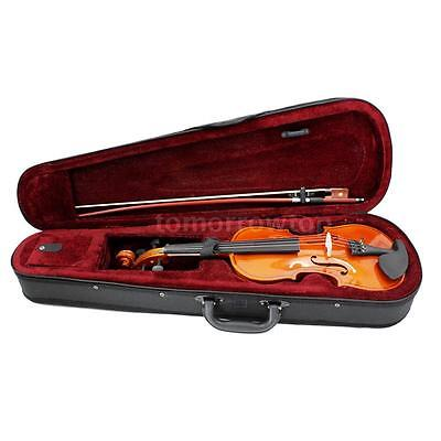 Basswood 4/4 Full Size Natural Acoustic Violin Fiddle w/Case Row Rosin New Y5P2
