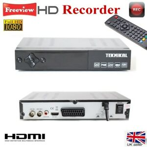 Teknikal Full HD Freeview Set Top Box plus RECORDER Digital TV Receiver Digi Box
