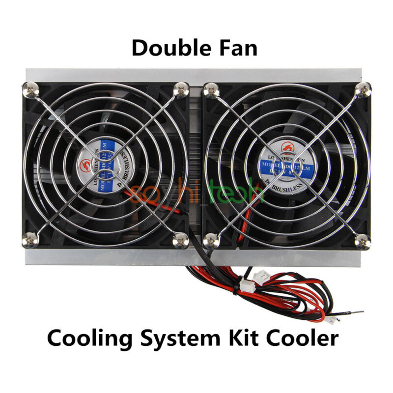 Thermoelectric Peltier Refrigeration Cooling System Kit Cooler With Dual Fan