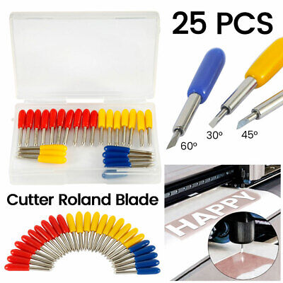 25pcs 304560 Degree Blades Cricut Cutting Plotter For Roland Vinyl Cutter Set