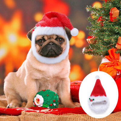Christmas Hats for Dogs Pet Cat Xmas Red Holiday Costume Santa Hat Cap Outfit (Santa Outfits For Cats)