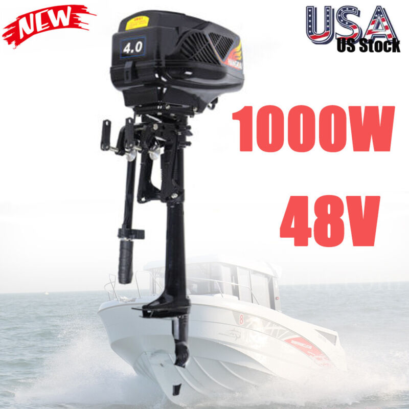 Outboard Motor 48V Electric Fishing Boat Engine Propeller Trolling 3000Rpm 1000W