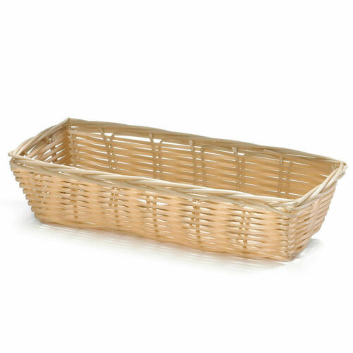 Tablecraft 1116W Tabletop Basket for Crackers 9x3-1/2x2IN Natural 12CT