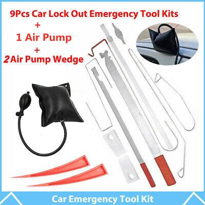 12X Universal Car Door Open Unlock Tool Kit Key Lost Lock Out Emergency Air Pump