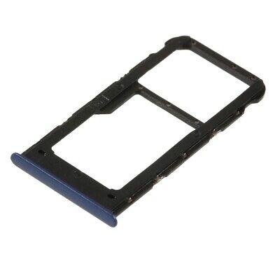 SIM/SD-KARTEN-HALTER #S77 zu HUAWEI P SMART (ENJOY 7S) Rahmen Tray Blau Blau Tray