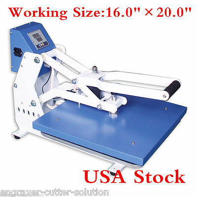 Us 16x20 Clam Shell T-shirt Heat Press Machine Auto Open Horizontal Version Ce