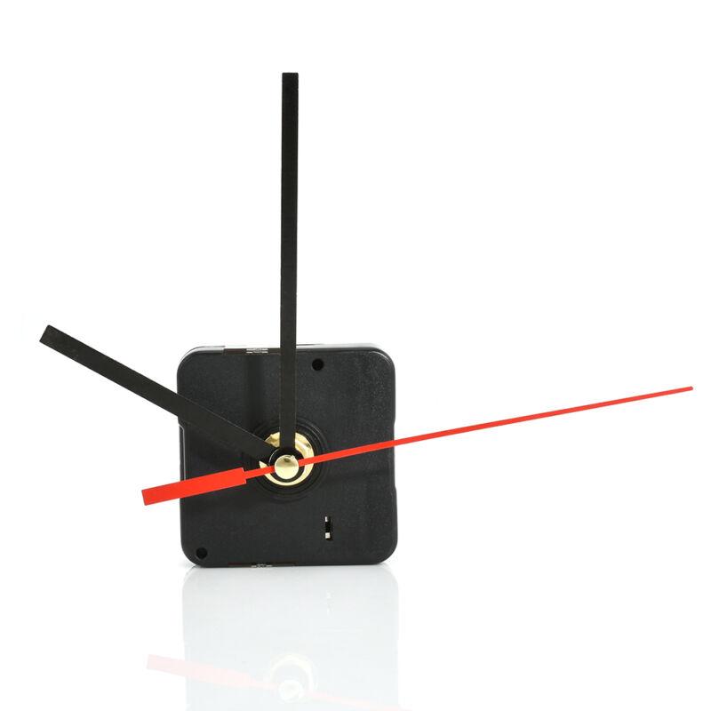 New DIY Replacement Part Set Clock Quartz Movement Mechanism Red and Black Hands