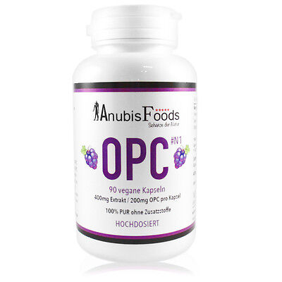 Anubisfoods OPC Traubenkernextrakt Kapseln - 400mg pro Kapsel - Premium Qualität