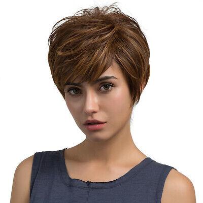 Natural Light Brown Straight Short Hair Wigs Short Women Fashion Wigs Throw Sale](Wigs Sale)