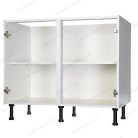 Kitchen Base Unit 1000mm - White