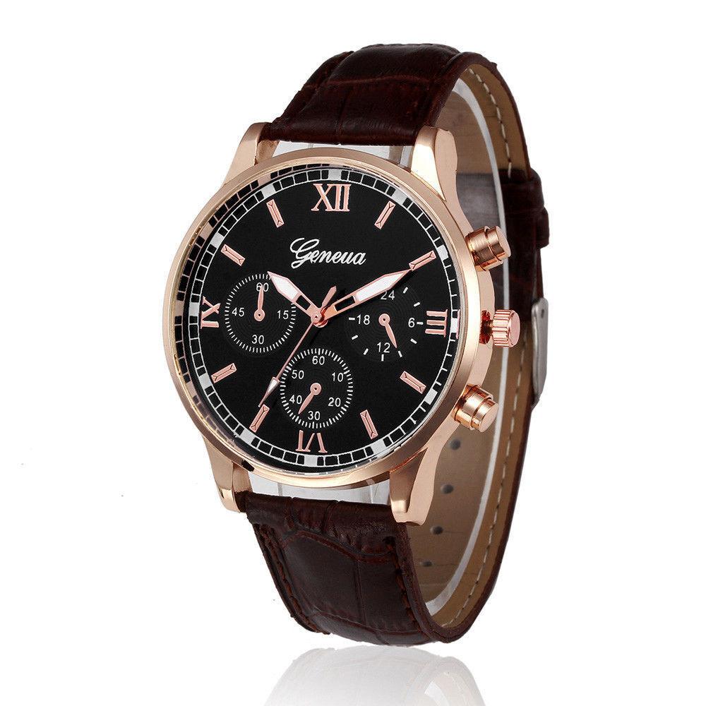 Men's Fashion Geneva Watches Stainless Steel Analog Quartz Boy Sport Wrist Watch