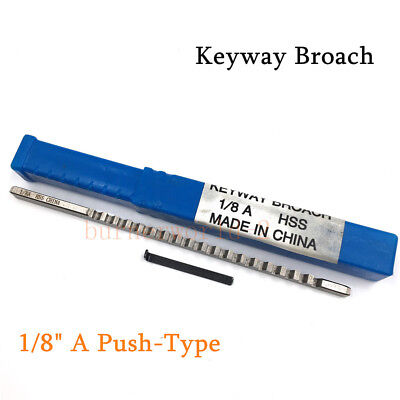 18 A Push-type Keyway Broach Inch Sized Hss Cutting Tool For Cnc Machine