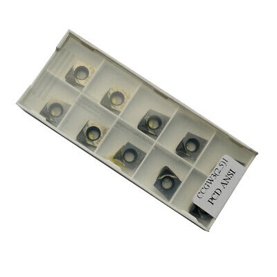 Ccgw32.51 Polycrystalline Diamond Pcd Turning Inserts 10pcs