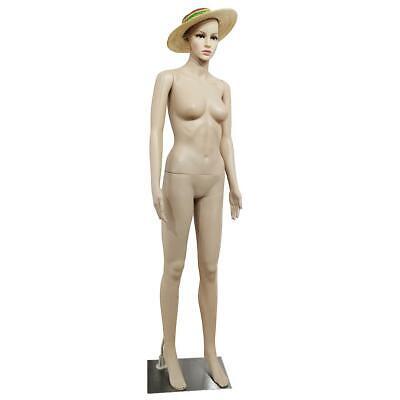 Female Full Body Realistic Mannequin Display Head Turn Dress Form Wbase 176cm