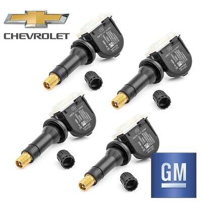 17-18 GM CHEVY SILVERADO 1500 OEM TPMS TIRE PRESSURE MONITOR SENSORS SET OF 4