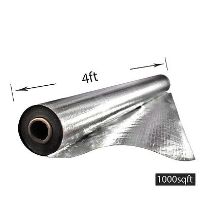 4x250 Radiant Barrier Attic Aluminum Foil Reflective Insulation 1000sqft 33lbs