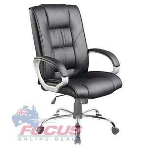 Executive PU Leather Office Computer Chair Black Melbourne CBD Melbourne City Preview