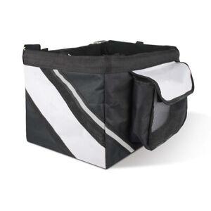 Pet Travel Carry Bag Dog Cat Puppy Bicycle Bike Front Carrier Basket Black