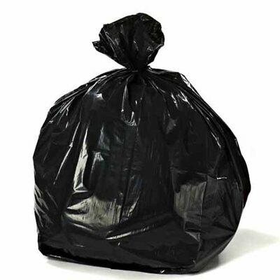 50 STRONG HEAVY DUTY BLACK REFUSE SACKS BAGS 18x29x39