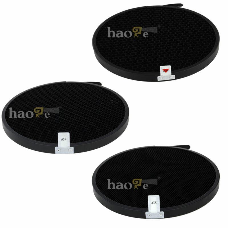 3PCS 20 40 60 deg Honeycomb Grid Set for Profoto Zoom Reflector 2 /Grid holder