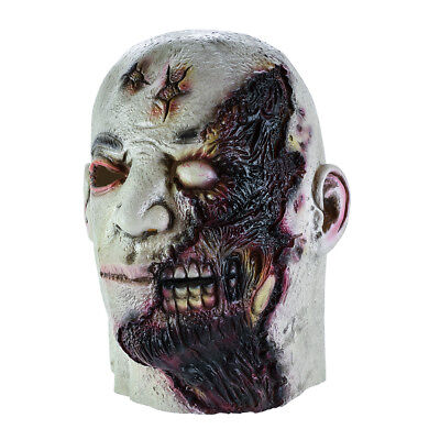Halloween Devil Mask (Halloween Mask Latex Cosplay Scary Masks Devil Zombie Horror Rotten Face)