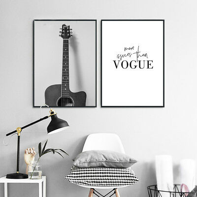 Guitar Fashion Canvas Poster Print Wall Art Modern Home Bedroom Decoration - Guitar Decorations