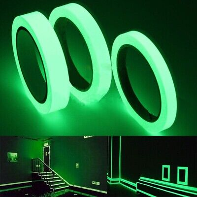 Home Decoration - 1M Glow In The Dark Sticker Tape  Luminous Fluorescent Night Safety Warning DIY