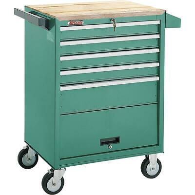 Grizzly H0841 5 Drawer Roll-cabinet W Bulk Storage Compartment