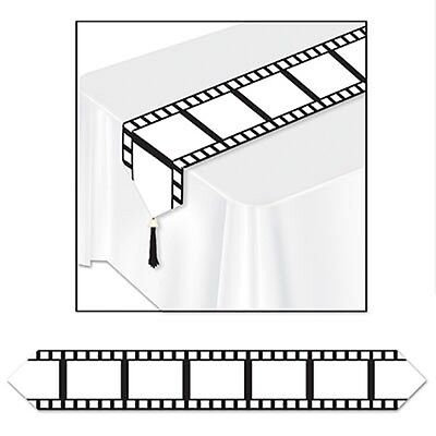 Film Strip Table Runner - 1.8m Hollywood Party Tableware Decoration Movie night ()