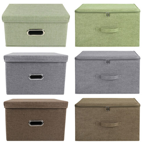 collapsible storage bin box with lid heavy