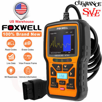 Foxwell Nt301 Engine Diagnostic Scan Tool Obd2 Code Reader Universal Car Scanner
