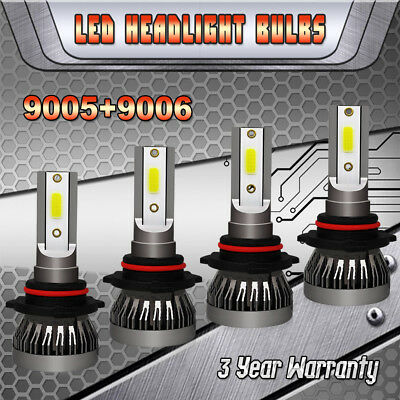 Mini Combo 9005+9006 LED Headlight Bulbs for GMC Sierra 1500 2500 HD 1995-2006 1995 Xenon Headlight Bulbs